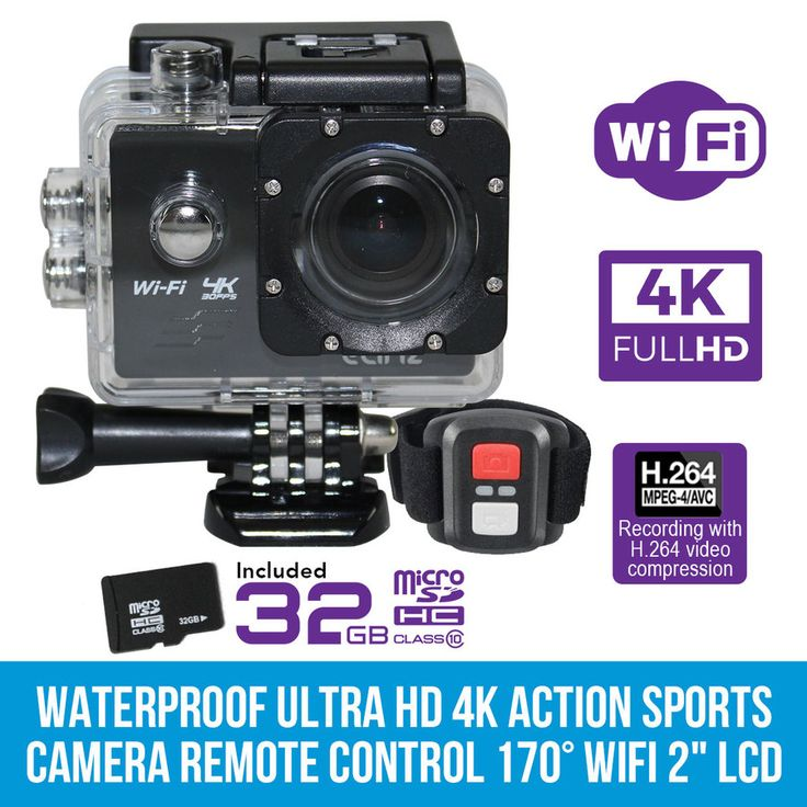 "Ultra HD 4K Waterproof Action Sports Video Camera Remote Control WiFi 2""LCD 32GB"