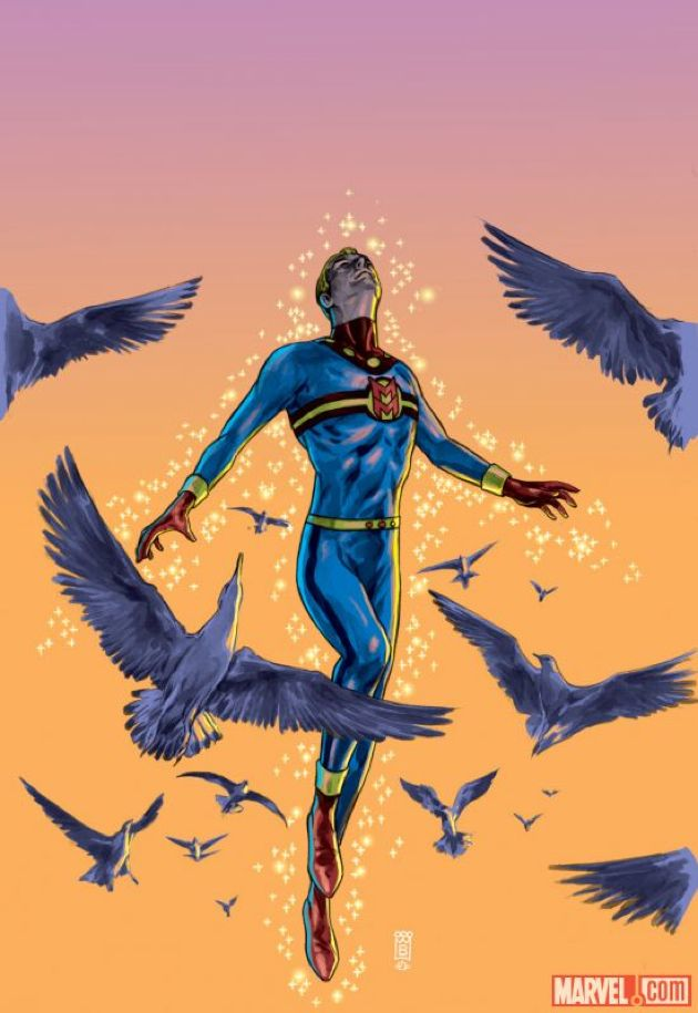 One of the better covers from the Marvel reprint of the classic Miracleman saga.    Click on the picture for more information...