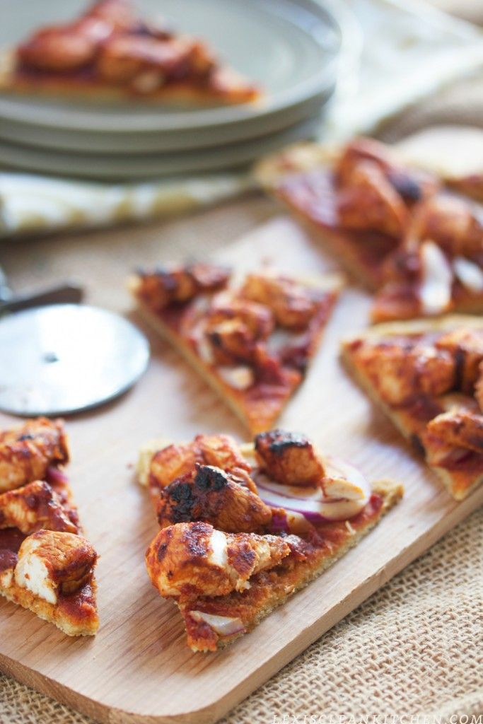 Paleo Pizza Crust: BBQ Chicken Pizza