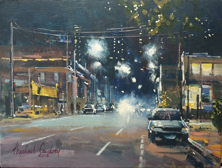Queensland Artist Michael Cawdrey - McLachlan Street, The Valley. Acrylic. 12x16 inches