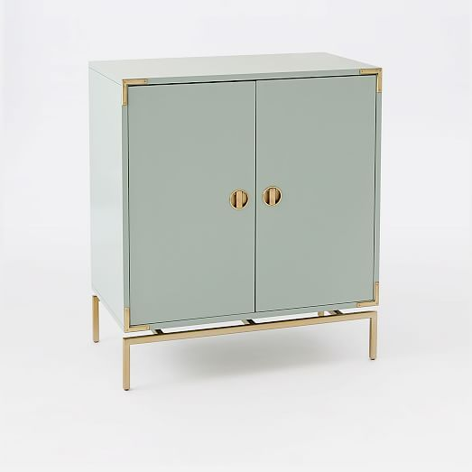 High Quality Malone Campaign Bar Cabinet   Lacquer | West Elm