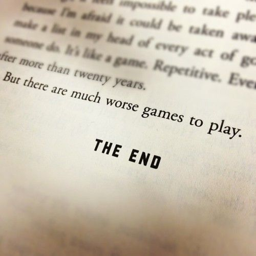 """""""But there are much worse games to play."""" What is your perspective on the meaning of this line? Comment below!"""