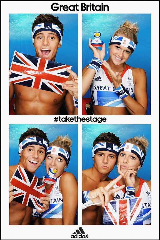 Tom Daley & Tonia  cute olympic team mates  Great Britain