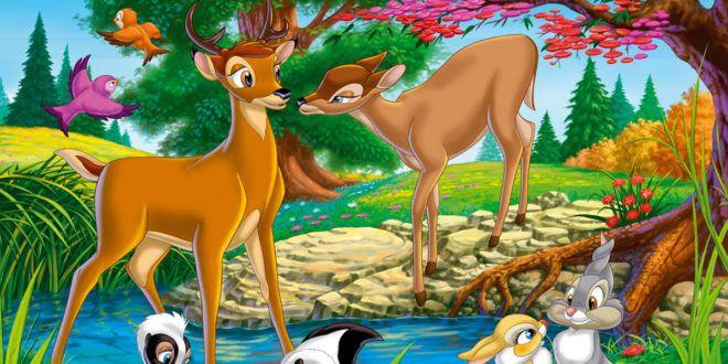 Colora e ritaglia i disegni del simpatico cartoon Bambi