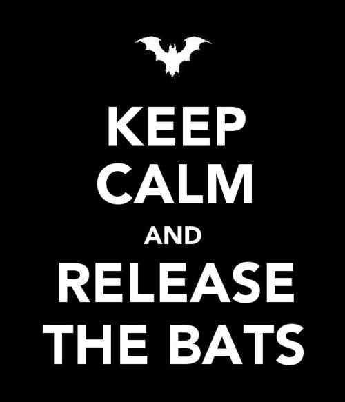 Keep calm and release the bats