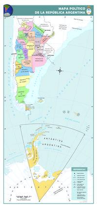 Galería de imágenes de mapas con división política y referencias de la Argentina, de cada una de sus provincias y de la Ciudad Autónoma de Buenos Aires.