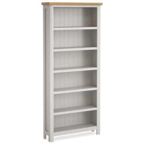 farrow painted large bookcase narrow stone grey painted bookshelf shelves