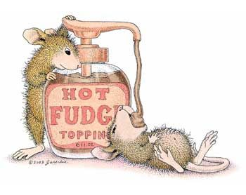 """Mudpie and Amanda from House-Mouse Designs® featured on the The Daily Squeek® for May 26th, 2013. Click on the image to see it on a bunch of really """"Mice"""" products."""