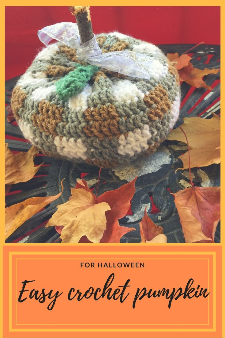 CITROUILLE AU CROCHET FACILE POUR L'HALLOWEEN / EASY CROCHET PUMPKIN FOR HALLOWEEN YOUTUBE VIDEO SUBSCRIBE