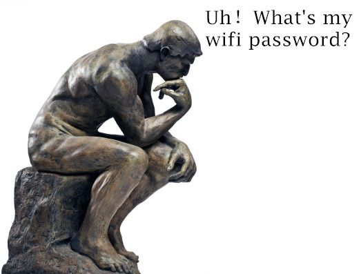 Uh,forgot wifi password!!