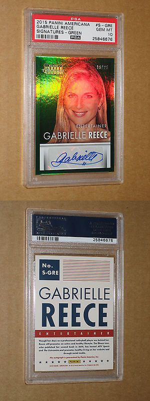 Olympics Cards 2956: Psa 10 Gabrielle Reece Signed Auto Autograph 2015 Panini Americana Sexy Card Dna -> BUY IT NOW ONLY: $79.97 on eBay!