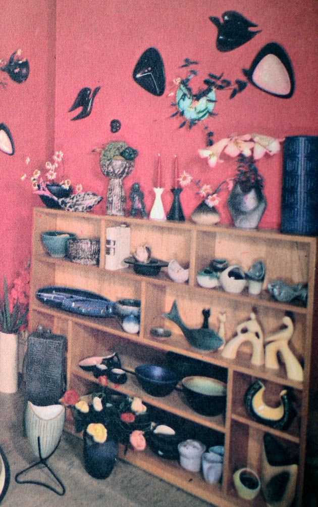 Vintage Ellis pottery showroom australian collection