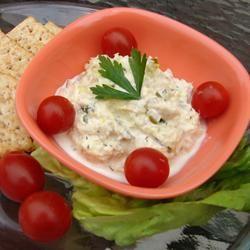 Идеальный салат для закуски из тунца, майонеза, сыра и ароматных приправ #рецепты