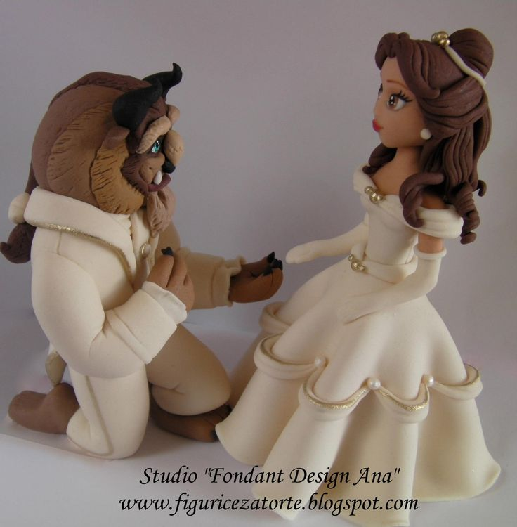 The beaty & the beast cake topper