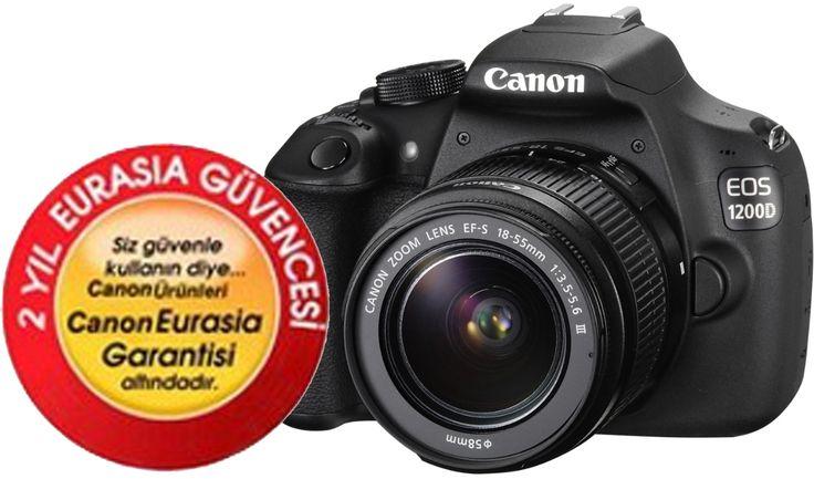 Canon EOS 1200D 18-55mm IS Dijital SLR Fotoğraf Makinesi ::