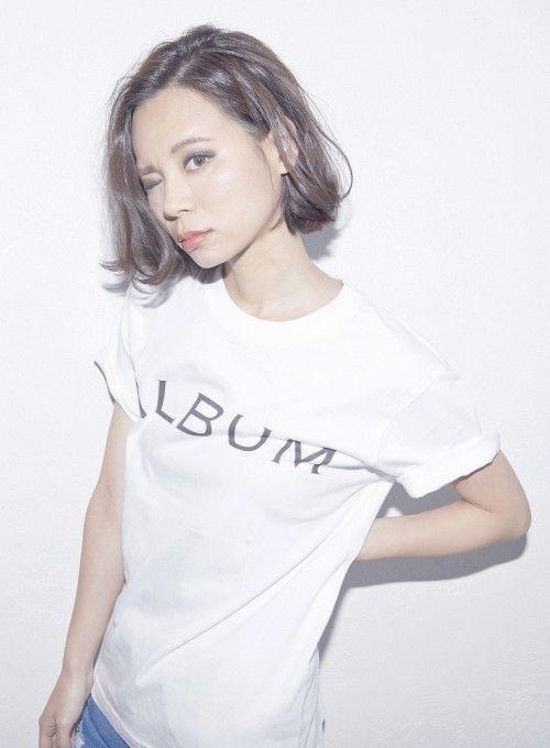 【ボブ】【ALBUM】クールボブ/ALBUM 原宿店の髪型・ヘアスタイル・ヘアカタログ|2016冬春