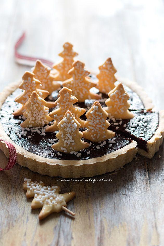 Fetta di Crostata di Natale (Cioccolato e Cannella)  - Ricetta Crostata di Natale