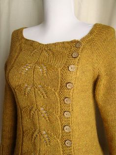 Asymmetrical buttoning sweater