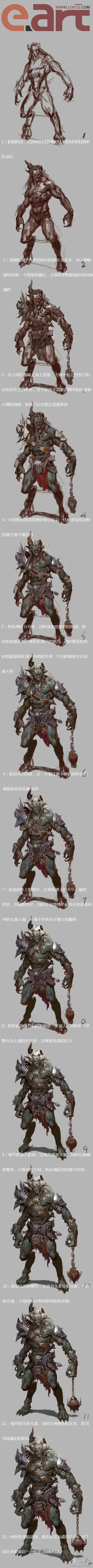 Tutorial - Art of Fenghua Zhong  . Good breakdown