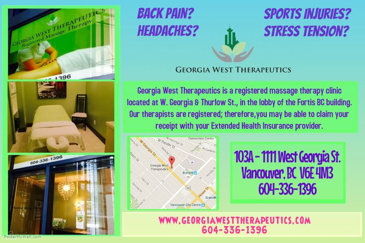 Our #clinic's #posters Georgia West Therapeutics 103A-1111 West Georgia St Vancouver BC georgiawesttherapeutics.com 604-336-1396