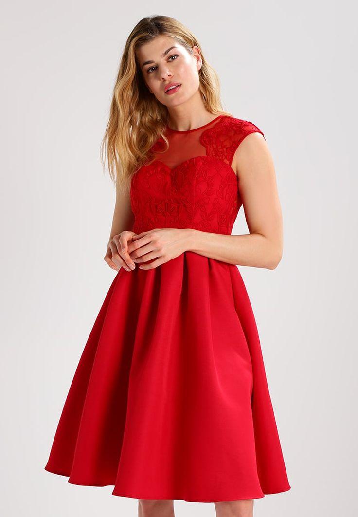 Chi Chi London Tall GILLIAN - Czerwona sukienka na wesele lub studniówkę  #sukienka #sukienki #wesele #studniówka #studniówka2018 #czerwona