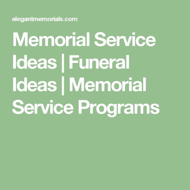 Memorial Service Ideas | Funeral Ideas | Memorial Service Programs
