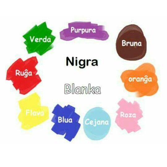 Colors in Esperanto / Couleurs en espéranto