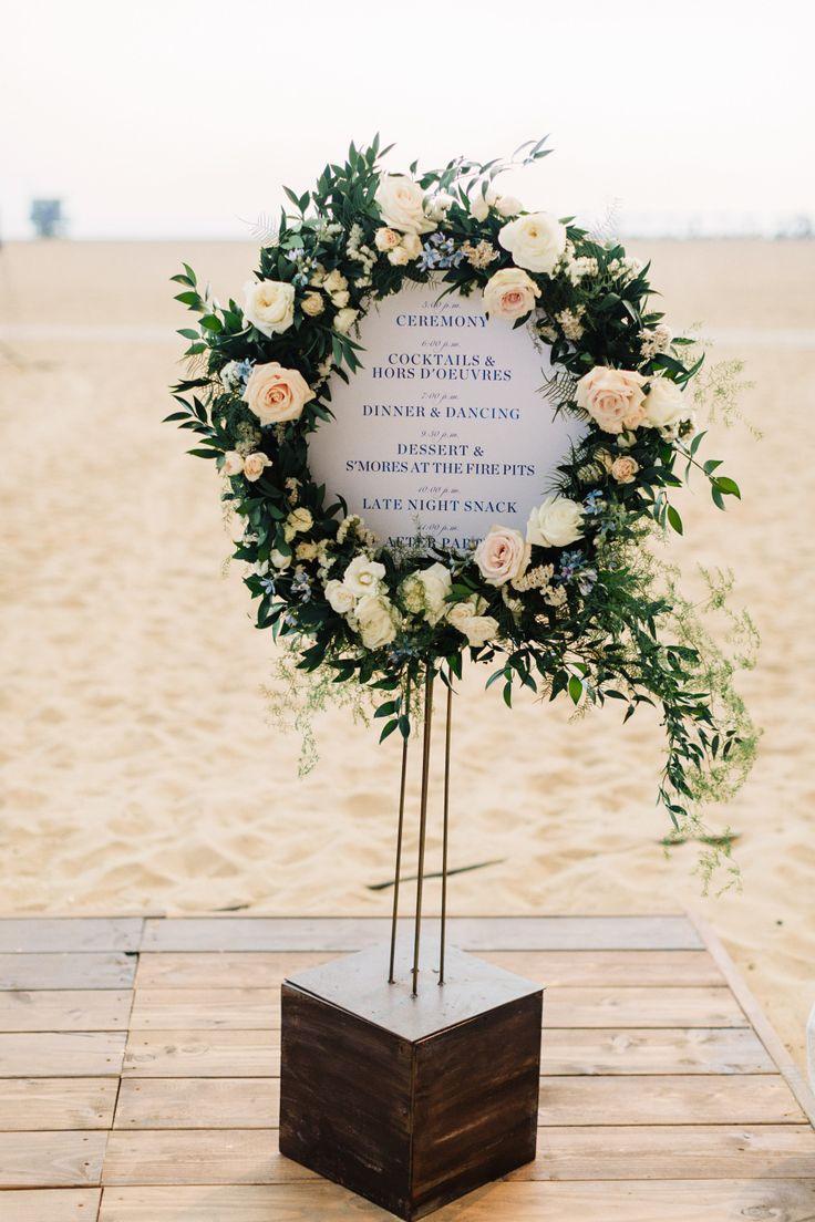 Floral wedding sign: Photography: Jana Williams - http://jana-williams.com/