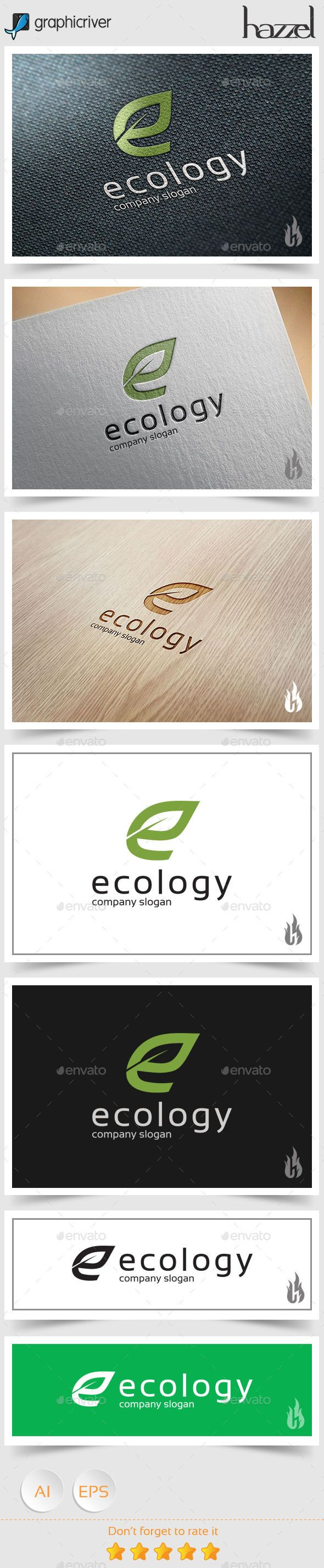Ecology - Letter E Logo - Letters Logo Templates