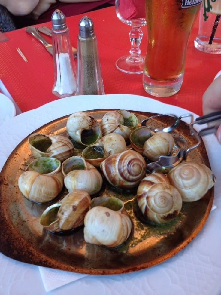 Garlic butter snails in France