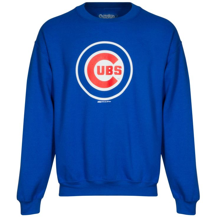 Chicago Cubs Men's Royal Bullseye Crewneck Sweatshirt by Stitches #Chicago #Cubs #ChicagoCubs