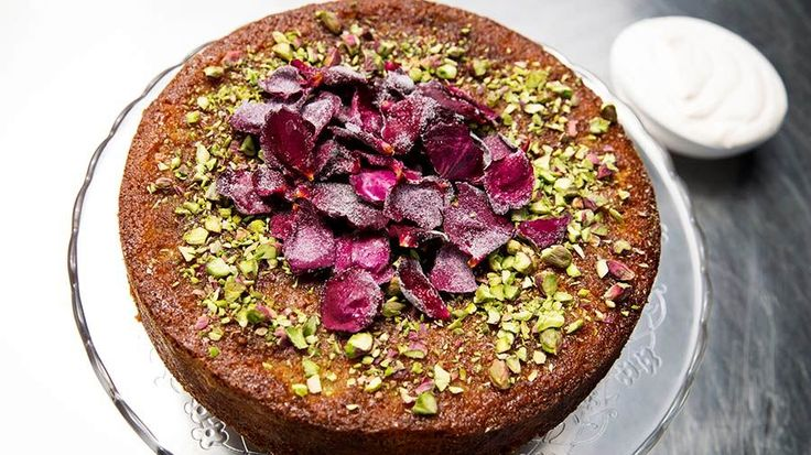 Pistachio and Rose Semolina Cake
