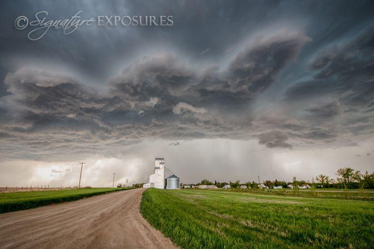 Stormy Grain Elevator, Manitoba, Canada. #exploremb