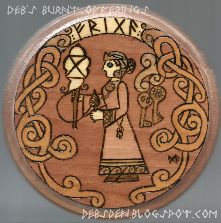 Frigga Norse Goddess woodburning