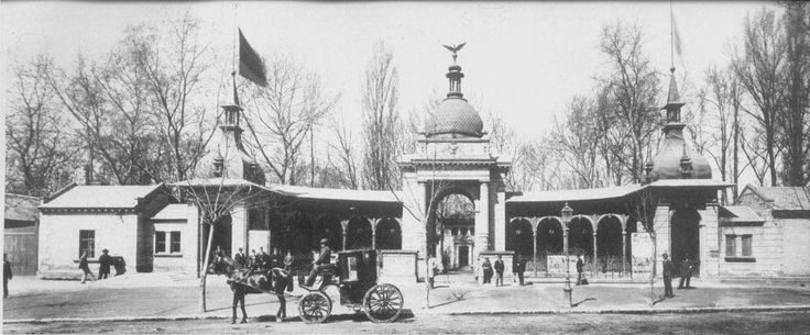 Budapest 1895 - The Old Zoo Entrance
