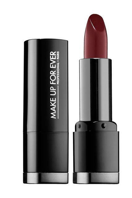 """8 Celeb-Approved Wine Lipsticks, For Every Skin Tone #refinery29  http://www.refinery29.com/best-wine-lipstick-colors#slide-6  """"I mixed three Make Up For Ever lip products,"""" Chung tells us. She used Blackcurrant as the base, then added both Pearly Dark Violet and Burgundy Artist Plexi-Gloss, a gloss, until she reached her ideal hue and texture.Make Up For Ever Intense Color Lipstick in Satin Blackcurrant, $20, available at <a…"""