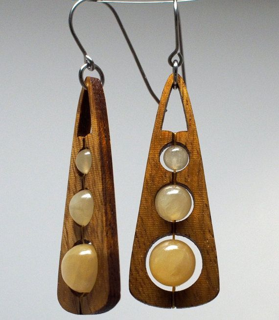 Tri-pop in citrine and curly maple by GroveAvenueDesign on Etsy