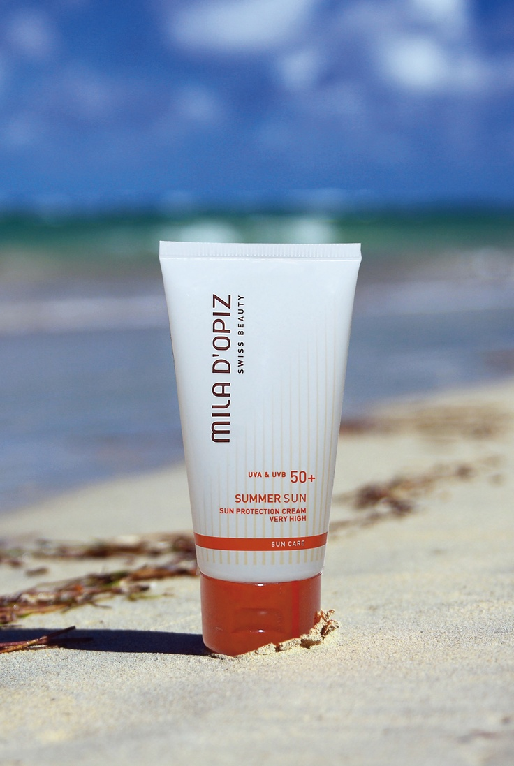Mila d'Opiz Australia - Swiss Sun Care Sun Protection Cream SPF 50+. Highest protection thanks to combination of different UVA-UVB protection systems. For face and body.