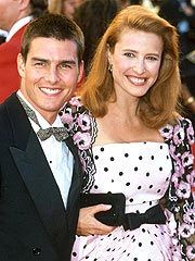Tom Cruise with 1st wife Mimi Rogers in 80's