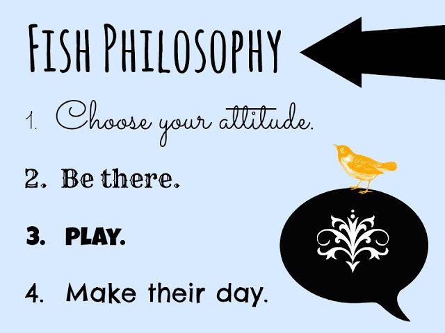 The Fish Philosophy.  Always a favorite of mine!  #fishphilosophy