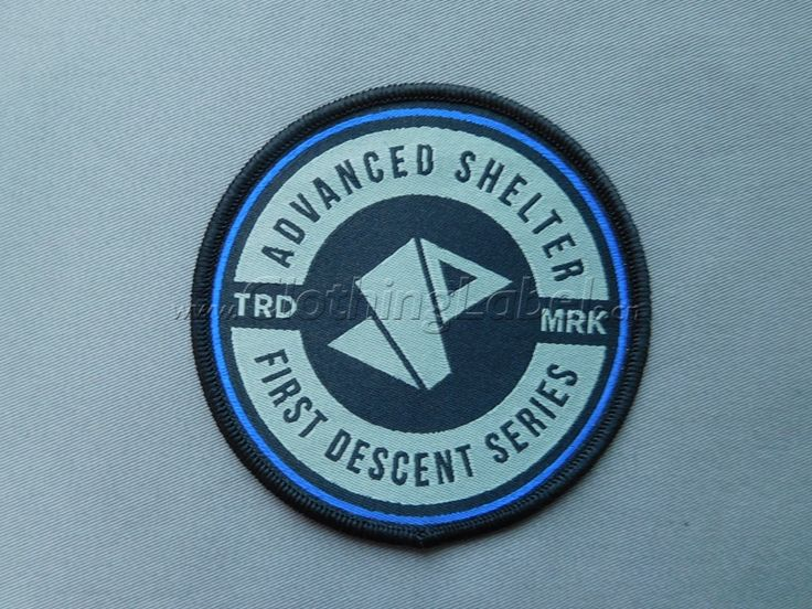 Item: woven patches-2 Material: damask woven Size:8cm diameter Color: RHG338, PANTONE COOL GRAY 8 C and BLACK. Technics: overlock edge