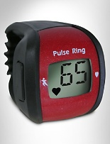 Sports Pulse Ring    Item # X2229    • 3 products in 1: pulse monitor, stopwatch & clock  • as unobtrusive as a class ring  • displays LCD pulse reading with the touch of a button  • optional audible alert sounds when heart rate exceeds or falls below normal range  • intended for non-medical sports/fitness use  • convenient lanyard included  • one size fits most