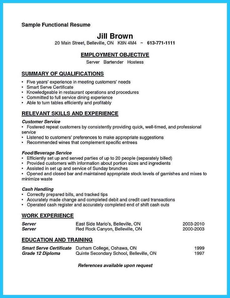 bartender resume template sample bartending resume throughout bartender resume templates free sample resume cover
