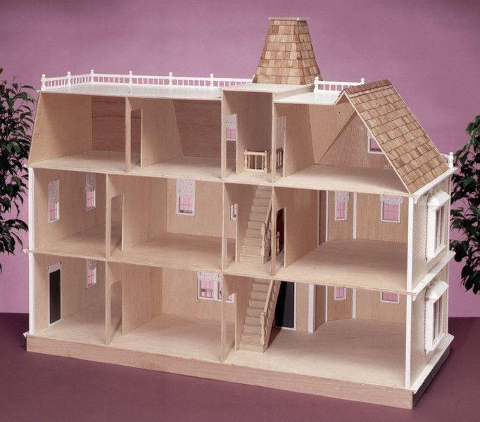 Bostonian Unfinished Dollhouse Kit Dollhouse Barbie