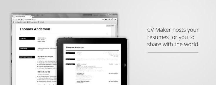 Online resume \/ CV creator Professional looking resumes in a - professional looking resume