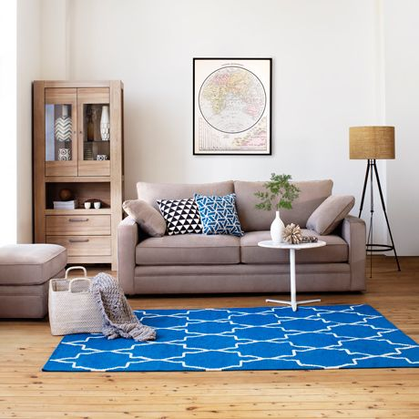 Lovely A Simple Idea Of Adding A Patterned Rug To A Minimalistic Design