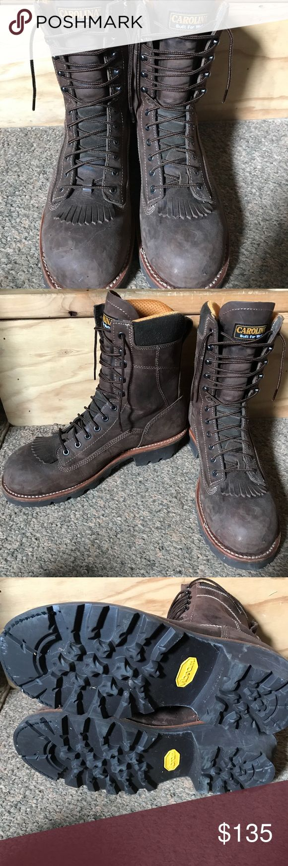 Carolina Logger Boots These are waterproof, leather boots with a steel toe. Size 11 1/2. These were worn twice. In excellent used condition. Smoke free home. Offers welcome. carolina Shoes Boots