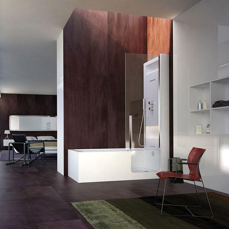La praticità della #doccia o il fascino rilassante della #vasca, la linea di combinate di @glass1989  ti permette di scegliere entrambe le soluzioni! www.gasparinionline.it #arredamento #bathroom #design #arredobagno #bagno #interiors