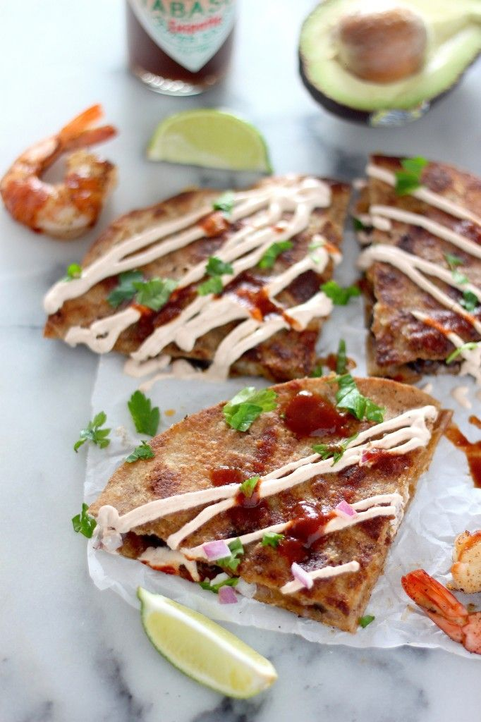 Chipotle Shrimp and Black Bean Quesadillas Plus 10 Holiday Party Recipes
