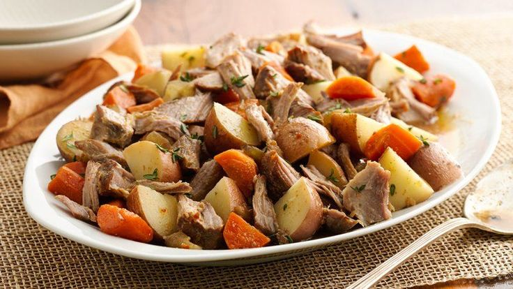 Put a little pork in your pot roast routine with this easy, make-ahead spin on the traditional slow-cooker favorite.
